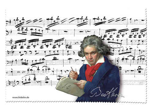 "Eyeglass cleaning cloth ""Beethoven"""