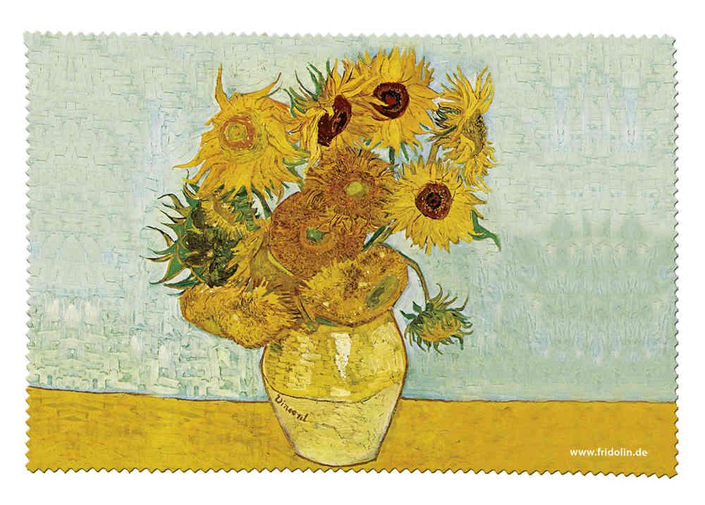 Brillenputztuch Van Gogh Sonnenblumen Fridolin
