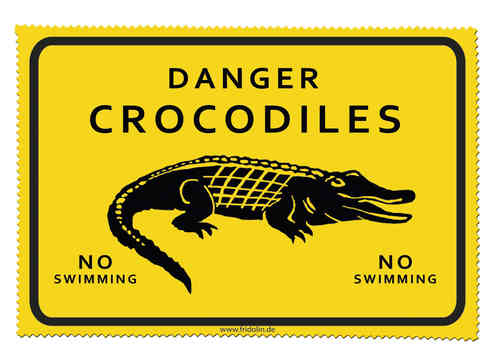 "Brillenputztuch ""Adventure Time - Crocodiles"""