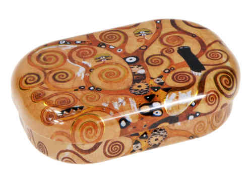 "Contact lens case, ""Klimt - Tree of life"""