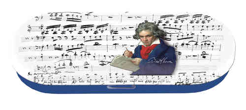 spectacle case, Beethoven, metal