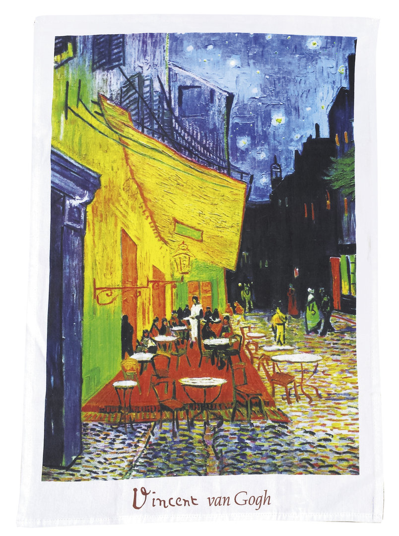 """Geschirrtuch """"Van Gogh - Café de Nuit"""", aus Baumwolle"""