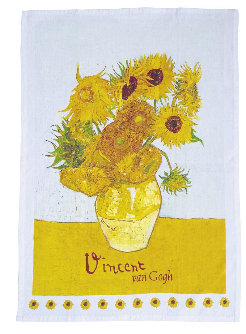 """Geschirrtuch """"Van Gogh - Sonnenblumen"""", aus Baumwolle"""