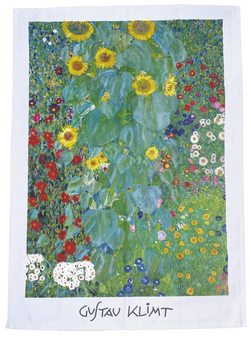 """Geschirrtuch """"Gustav Klimt - Bauerngarten"""", aus Baumwolle"""