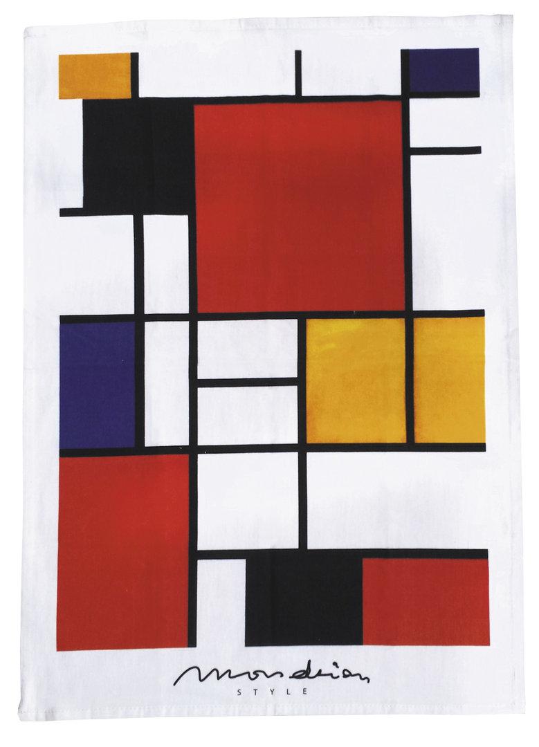 """Geschirrtuch """"Mondrian Style - Bauhaus"""", aus Baumwolle"""