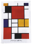 "Tea towel ""Mondrian Style - Bauhaus"", made of cotton"