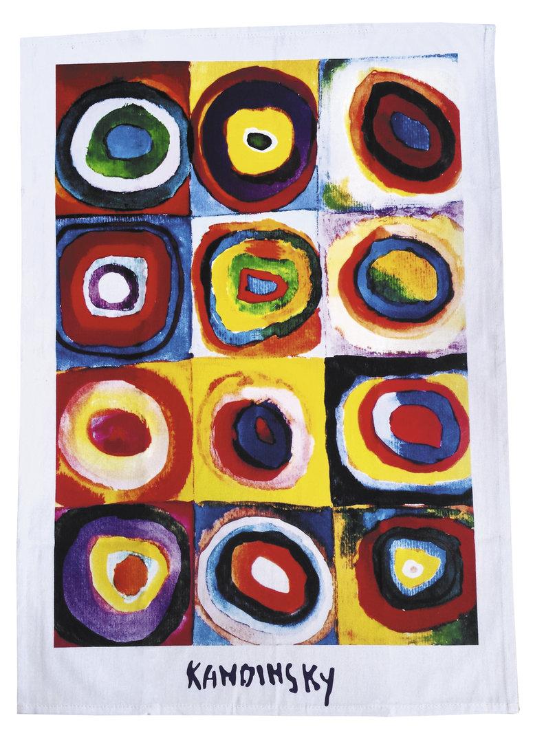 """Geschirrtuch """"Kandinsky - Farbstudie"""", aus Baumwolle"""