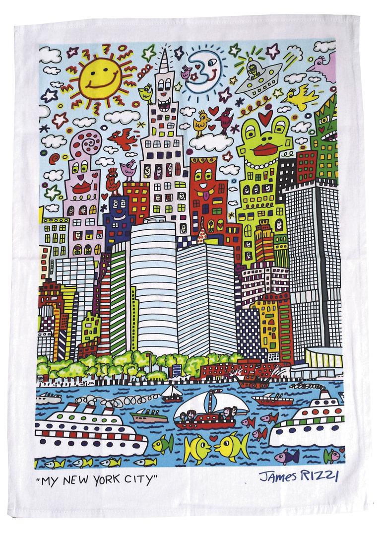 """Geschirrtuch """"James Rizzi - My New York City"""", aus Baumwolle"""