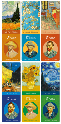 "bookmarks set ""Vincent van Gogh"", 6 pcs"