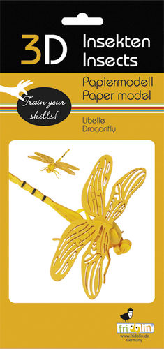 3D Paper model - Dragonfly