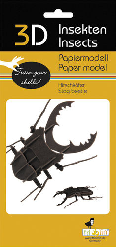 3D Paper model - Stag beetle