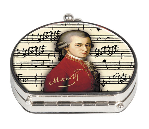 "Pocket mirror ""Mozart"" - textile surface"