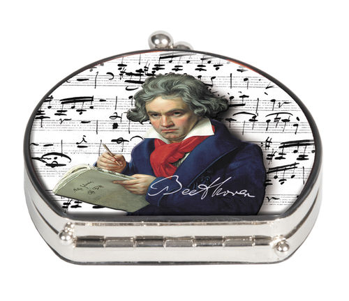"Pocket mirror ""Beethoven"" - textile surface"