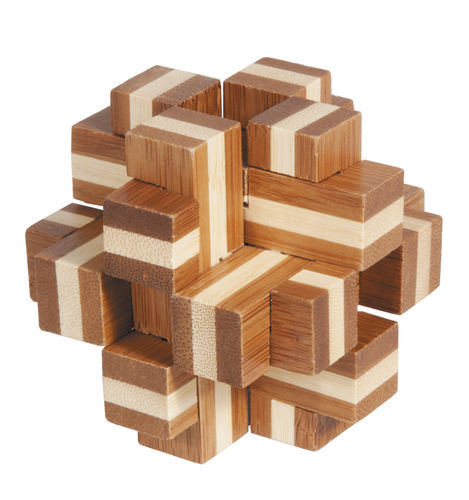 """IQ-Test"" bamboo puzzle ""Cube Cross"""