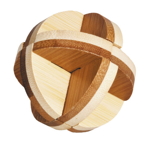 """IQ-Test"" bamboo puzzle ""3 Disc Ball"""
