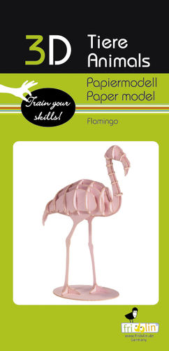 3D Paper model - Flamingo
