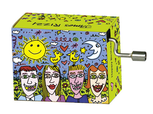 "Spieluhr ""Happy Birthday"" in Box ""James Rizzi, Don't worry"""