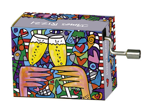 "Spieluhr ""Happy Birthday"" in Box ""James Rizzi, Here's to love"""