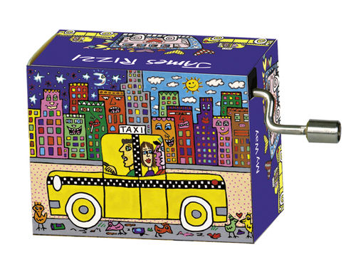 "Spieluhr ""My Way"" in Box ""James Rizzi, If you take a taxi"""