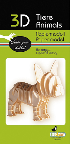 3D Paper model - French Bulldog