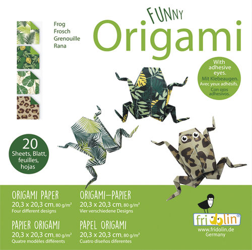 Funny Origami - Frogs, big