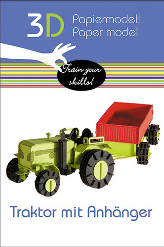 3D Paper model - Tractor with trailer
