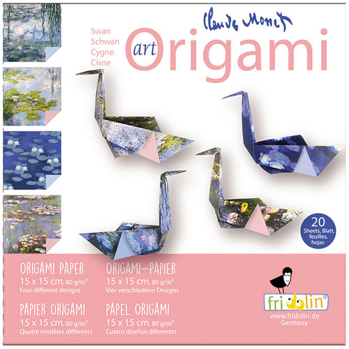 Art Origami - Claude Monet - Schwan