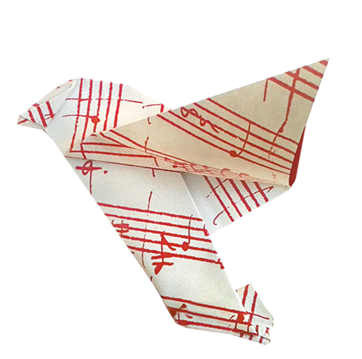 Origami paper music notes Clipart | k57892975 | Fotosearch | 704x709