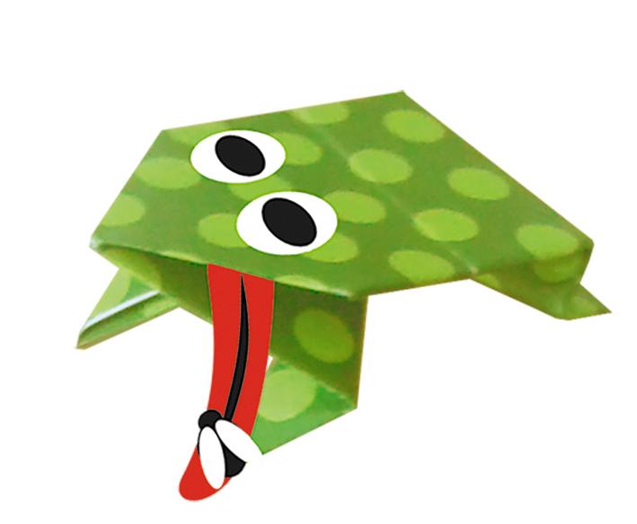 Jumping Frog - Let's Make Origami! - Exploring Origami - Virtual ... | 584x709