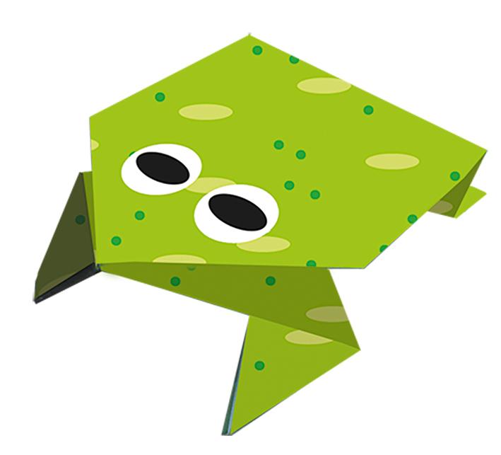 Jumping Frog - Let's Make Origami! - Exploring Origami - Virtual ... | 643x709