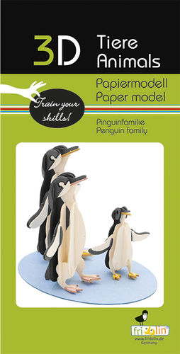 3D Paper model - Penguin family