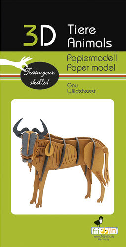 3D Paper model - Wildebeest
